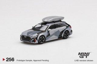 <img class='new_mark_img1' src='https://img.shop-pro.jp/img/new/icons1.gif' style='border:none;display:inline;margin:0px;padding:0px;width:auto;' />8月以降予約 MINI GT 1/64 Audi RS 6 Avant Silver Digital Camouflage Roof Box 左ハンドル(LHD)中国限定