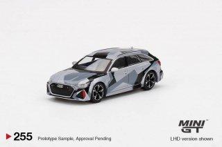 <img class='new_mark_img1' src='https://img.shop-pro.jp/img/new/icons1.gif' style='border:none;display:inline;margin:0px;padding:0px;width:auto;' />8月以降予約 MINI GT 1/64 Audi RS 6 Avant Silver Digital Camouflage 左ハンドル(LHD)中国限定