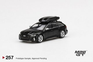 <img class='new_mark_img1' src='https://img.shop-pro.jp/img/new/icons1.gif' style='border:none;display:inline;margin:0px;padding:0px;width:auto;' />9月以降 予約 MINI GT 1/64 Audi RS 6 Avant Mythos Black Metallic Roof Box 左ハンドル(LHD)