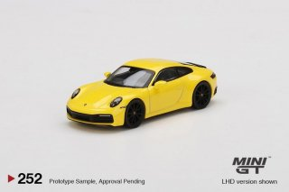 <img class='new_mark_img1' src='https://img.shop-pro.jp/img/new/icons1.gif' style='border:none;display:inline;margin:0px;padding:0px;width:auto;' />9月以降 予約 MINI GT 1/64 Porsche 911 (992) Carrera 4S Racing Yellow 左ハンドル(LHD)