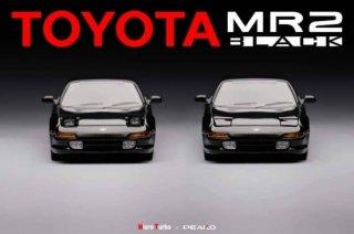 <img class='new_mark_img1' src='https://img.shop-pro.jp/img/new/icons12.gif' style='border:none;display:inline;margin:0px;padding:0px;width:auto;' />Peako64×Micro Turbo 1/64 Toyota MR2 SW20 Rev 41996 Black ヘッドライト開閉式