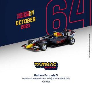 <img class='new_mark_img1' src='https://img.shop-pro.jp/img/new/icons1.gif' style='border:none;display:inline;margin:0px;padding:0px;width:auto;' />12月以降予約 国内未発売 Tarmac Works 1/64 Dallara Formula 3 World Cup Red Bulle #6