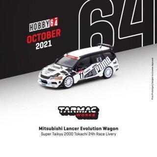 <img class='new_mark_img1' src='https://img.shop-pro.jp/img/new/icons1.gif' style='border:none;display:inline;margin:0px;padding:0px;width:auto;' />12月以降予約 Tarmac Works 1/64 Mitsubishi Lancer Evolution Wagon Super Taikyu 2000 十勝24H