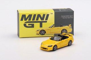 <img class='new_mark_img1' src='https://img.shop-pro.jp/img/new/icons1.gif' style='border:none;display:inline;margin:0px;padding:0px;width:auto;' />11月以降 予約 MINI GT 1/64 Honda S2000 Type S CR Rio Yellow Pearl / New Indy 右ハンドル(RHD)