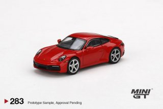 <img class='new_mark_img1' src='https://img.shop-pro.jp/img/new/icons1.gif' style='border:none;display:inline;margin:0px;padding:0px;width:auto;' />11月以降 予約 MINI GT 1/64 Porsche 911 (992) Carrera S Guards Red 右ハンドル(RHD)