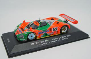 IXO 1/43 MAZDA 787B RENOWN #55 WINNER LE MANS 1991 with dirty effects