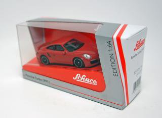 <img class='new_mark_img1' src='https://img.shop-pro.jp/img/new/icons60.gif' style='border:none;display:inline;margin:0px;padding:0px;width:auto;' />schuco 1/64 PORSCHE 911 TURBO 991 RED