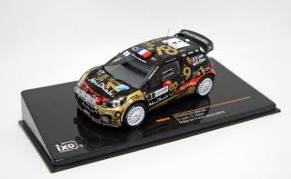 <img class='new_mark_img1' src='https://img.shop-pro.jp/img/new/icons1.gif' style='border:none;display:inline;margin:0px;padding:0px;width:auto;' />IXO 1/43 CITROEN DS3 WRC #1 S.LOEB - D.ELENA RALLYEDE FRANCE ALSACE 2013 (with night lights)