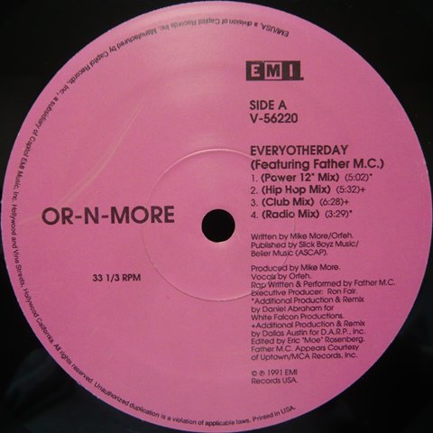 Or-N-More / Everyotherday (12 Inch) - Vinyl Cycle Records