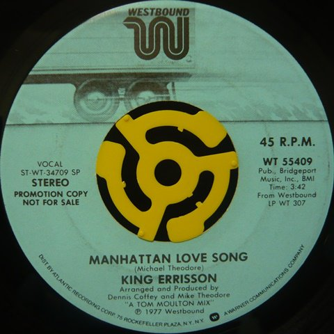 King Errisson Manhattan Love Song 7 Inch Vinyl Cycle Records
