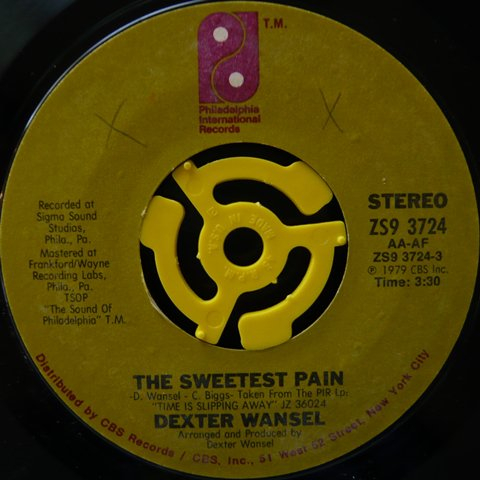 Dexter Wansel The Sweetest Pain 7 Inch Vinyl Cycle Records