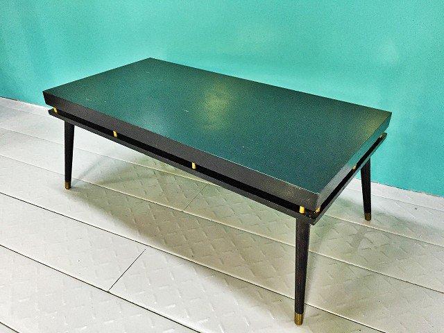 1950-60's ヴィンテージ ウッド ブラック  ローテーブル