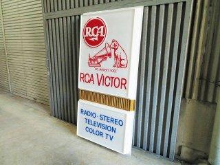 ヴィンテージ  RCA Victor 特大 アドバタイジング サイン/看板