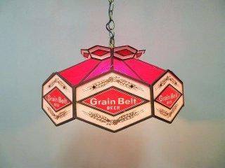 ヴィンテージ Grain Belt アドバタイジング ペンダントランプ