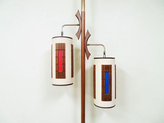 1950-60's ヴィンテージ ミッドセンチュリー 2灯 ポールランプ
