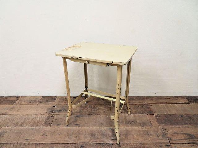 1950-60's ヴィンテージ アイアン×ウッド ワークテーブル