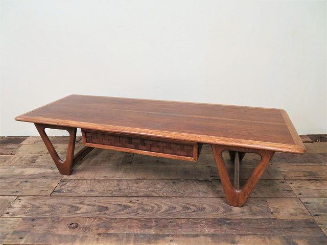 1960's Lane社製 ヴィンテージ トライアングルレッグ ウッド ローテーブル