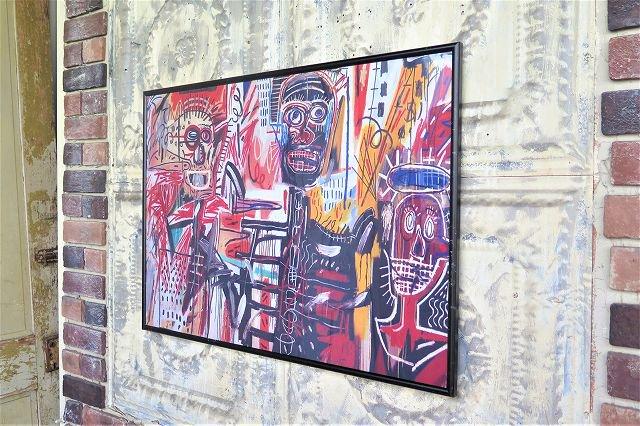 Jean-Michel Basquiat 額入りナイロンポスター