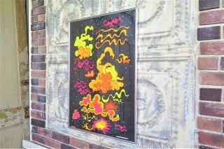 1960'sヴィンテージ THE CLOUDS 額入り ブラックライトポスター