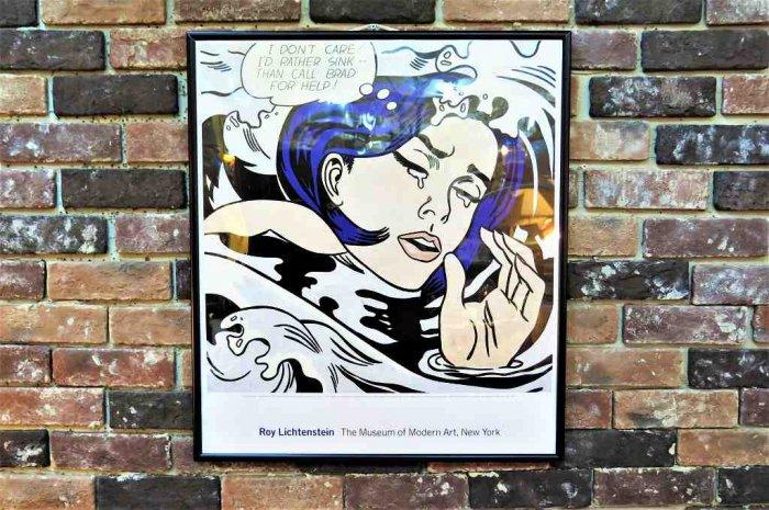1990's Roy Lichtenstein 額入り ポスター