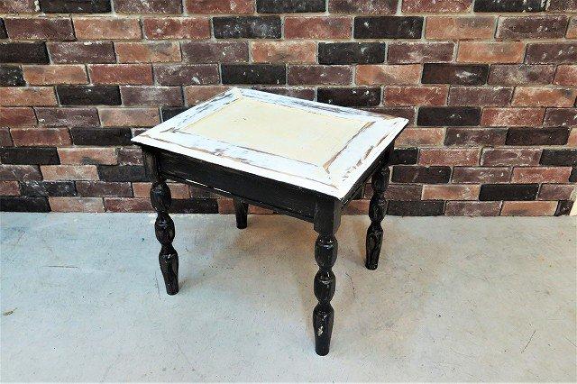 ヴィンテージ シャビー ウッド サイドテーブル