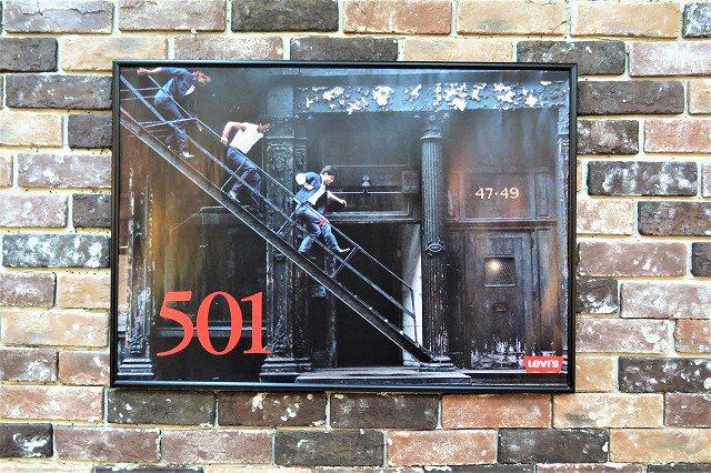 ヴィンテージ Levi's 501 アドバタイジング 額入り ポスター