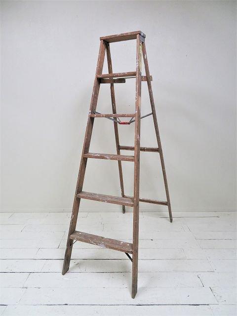 Ancobold社製 ヴィンテージ ウッド ラダー /  はしご