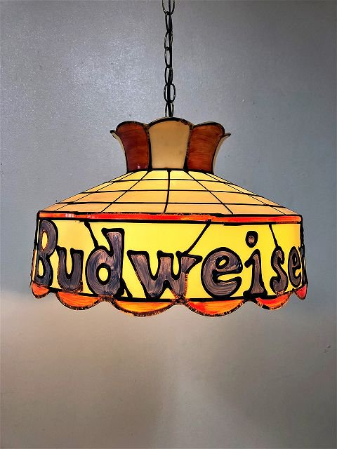 1970's ヴィンテージ Budweiser ペンダントランプ(OUTLET)