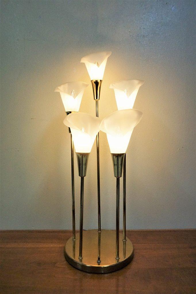 ヴィンテージ フラワーシェード 5灯 テーブルランプ