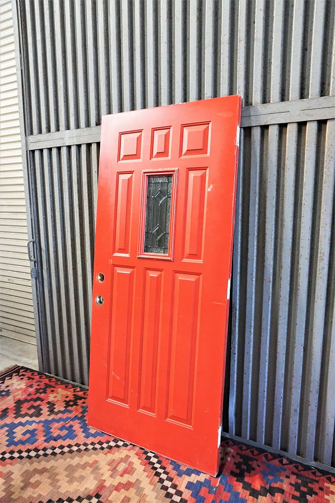 ヴィンテージ ペイント ウッドドア