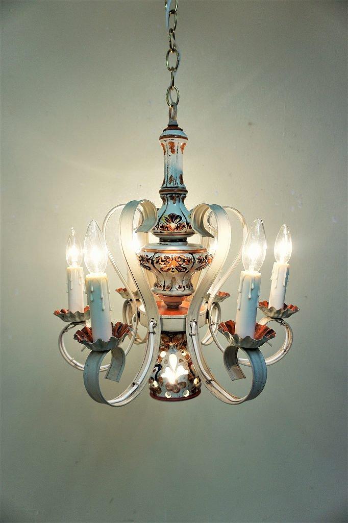 1960-70's ヴィンテージ セラミック 7灯 シャンデリア