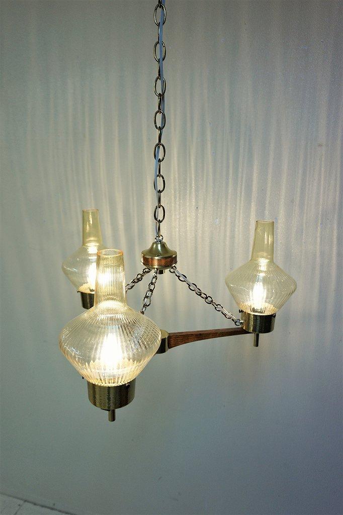 1950-60's ヴィンテージ モダン 3灯 シャンデリア