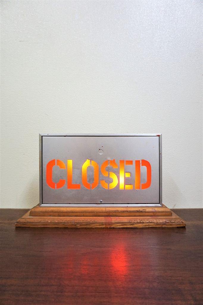 ヴィンテージ CLOSED ライトサイン