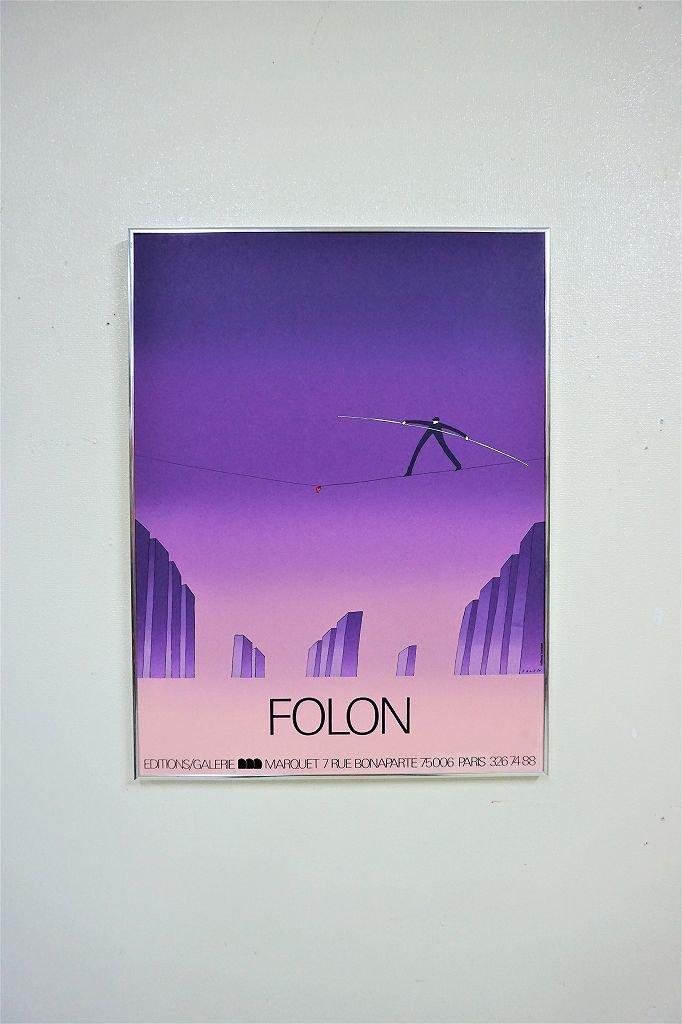 1970's ヴィンテージ FOLON 額入りポスター