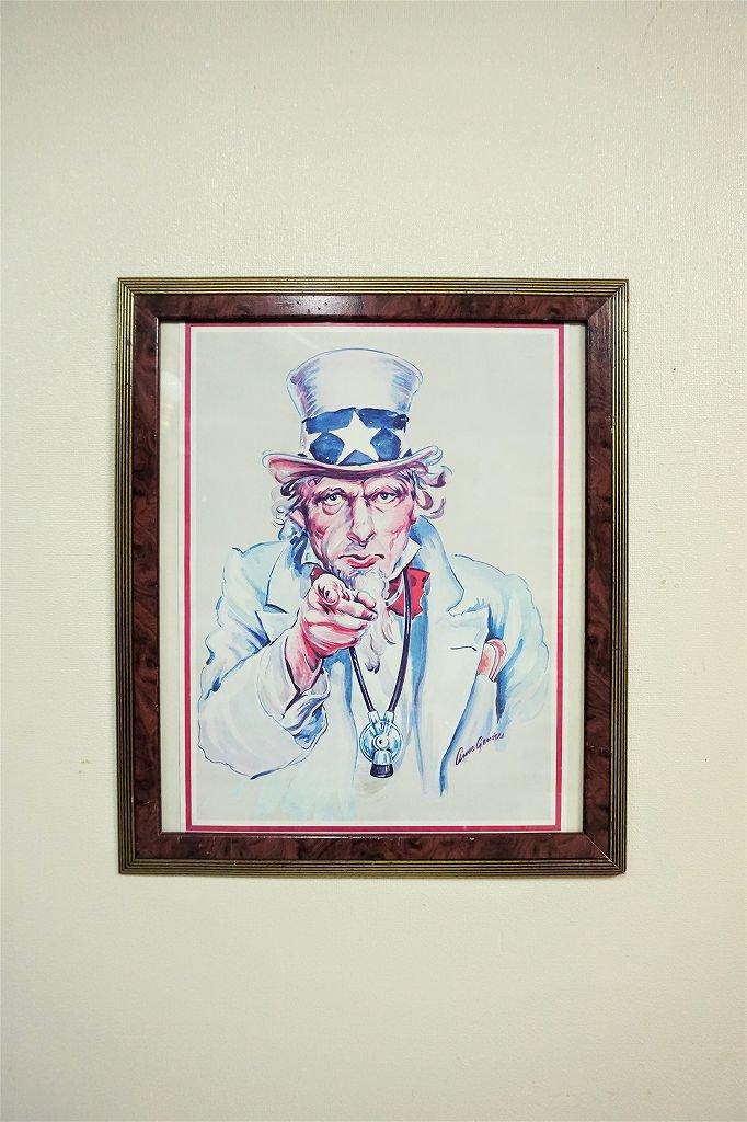 1980's ヴィンテージ アンクルサム 額入りポスター