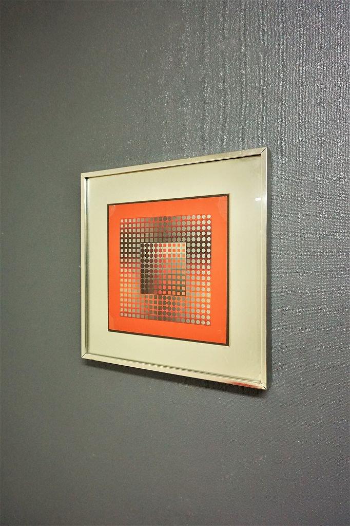 1960-70's ヴィンテージ OPアート 額入りポスター