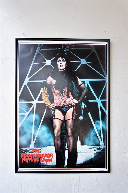 "1970's ""Rocky Horror Show"" ヴィンテージ 額入り ポスター"