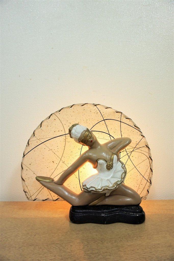 1950's ヴィンテージ ダンサーモチーフ テレビランプ