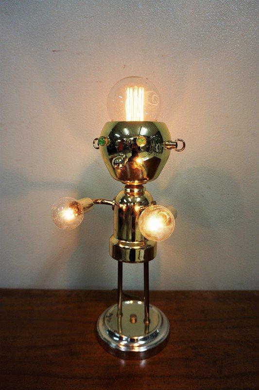 ヴィンテージ ロボットモチーフ テーブルランプ