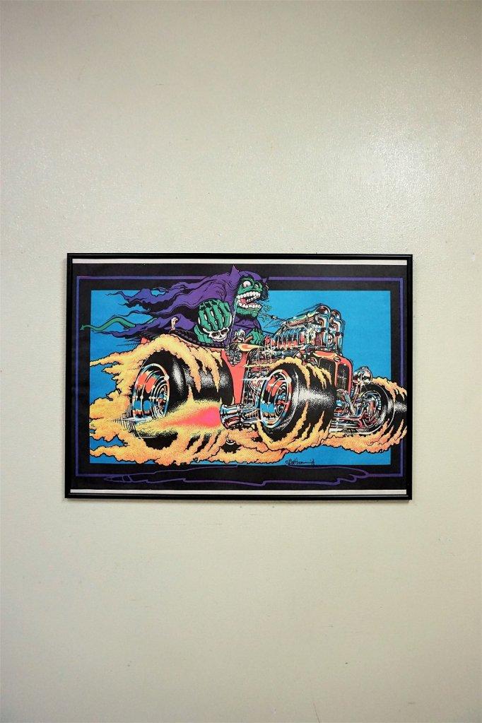 1970's ヴィンテージ Grim Reaper 額入りポスター