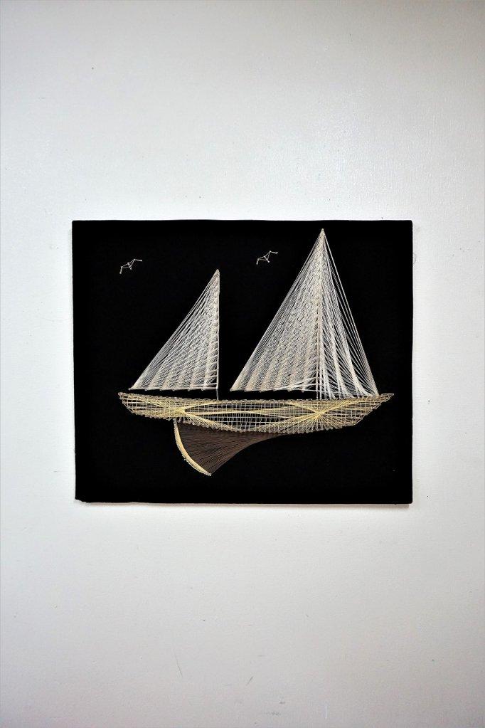 1960-70's ヴィンテージ ストリングスアート ウォールデコ