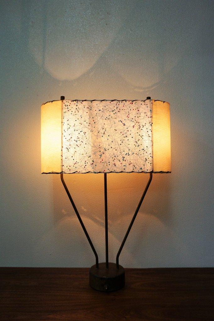 1950's ヴィンテージ ミッドセンチュリー 3灯 テーブルランプ