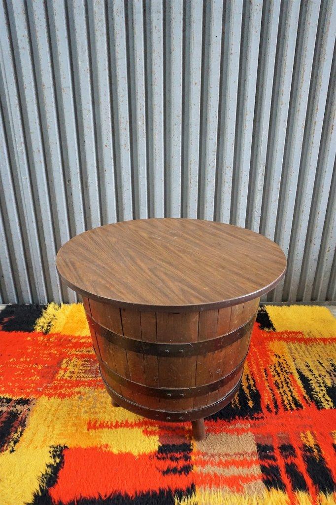 1970's ヴィンテージ ミッドセンチュリー バレル カフェテーブル