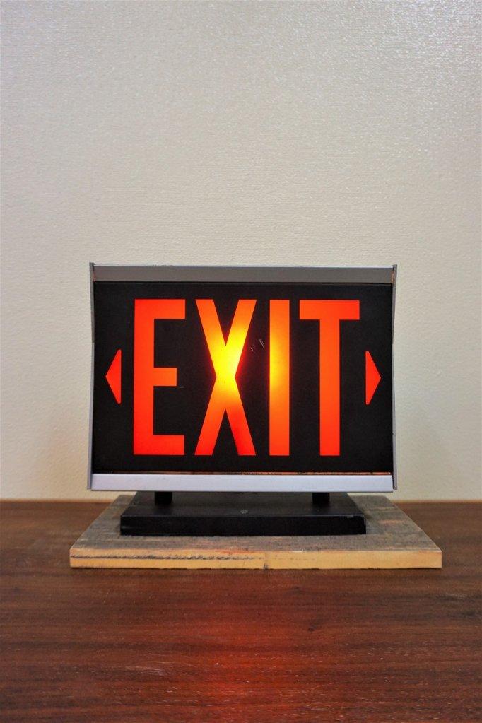 ヴィンテージ EXIT ライトサイン