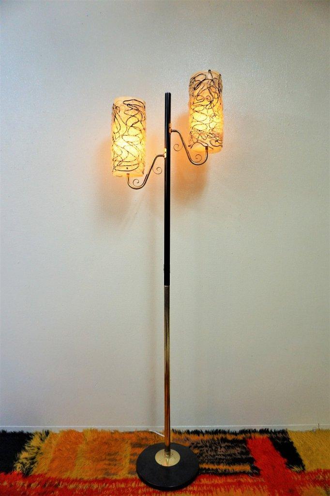 1950-60's ヴィンテージ スパゲティ 2灯フロアランプ