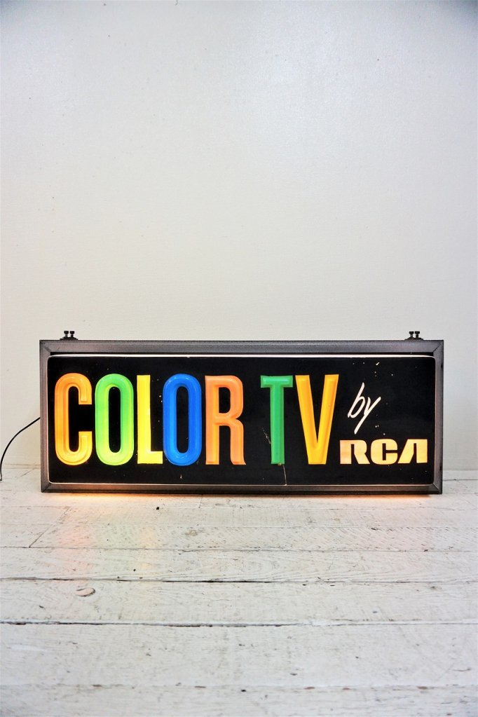 1950-60's ヴィンテージ RCA COLOR TV ライトサイン