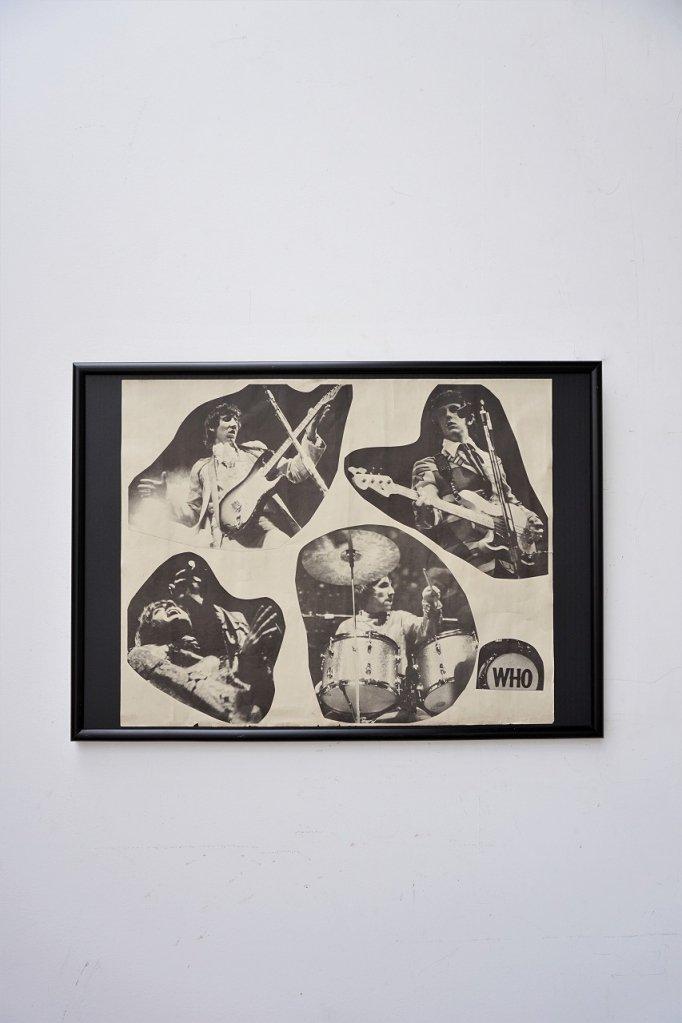 1960-70's ヴィンテージ The Who 額入りポスター