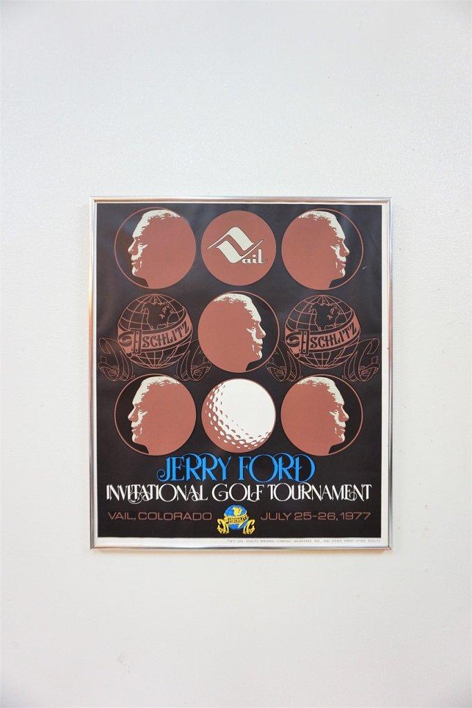 1970's ヴィンテージ SCHLITZ 額入りポスター