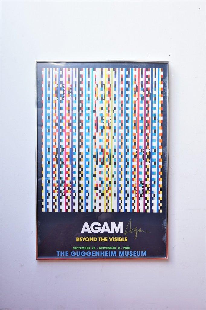 ヴィンテージ Yaacov Agam 額入りポスター