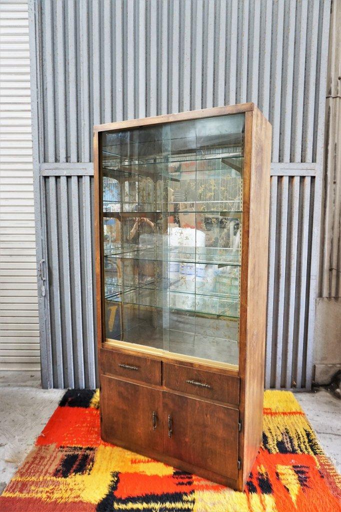 1950's ヴィンテージ ミッドセンチュリー ディスプレイショーケース※近畿圏内のみの販売